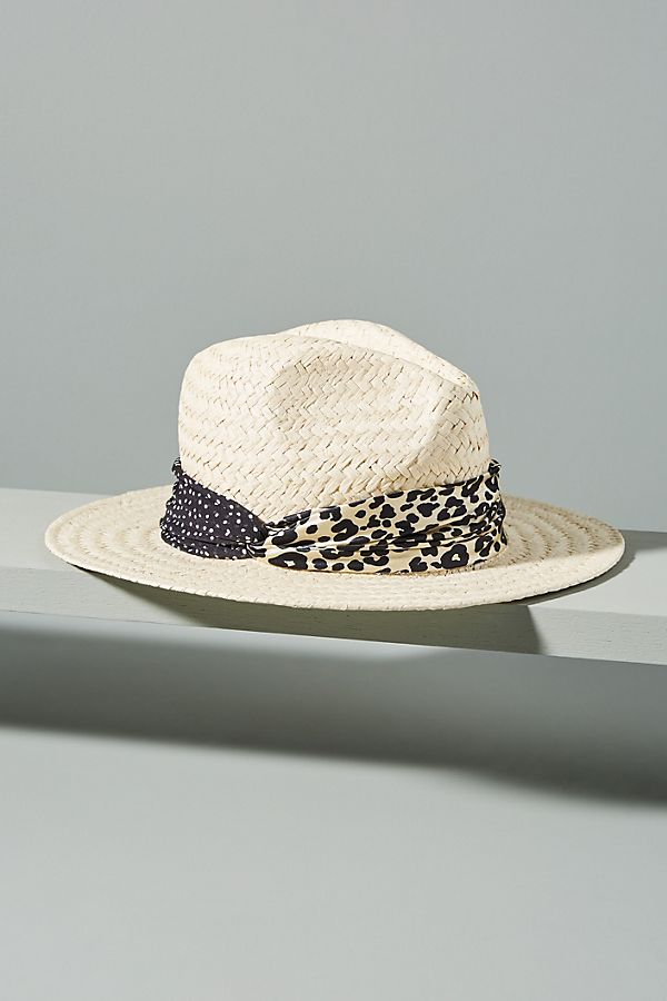 Genie by Eugenia Kim Billie Leopard-Trimmed Fedora