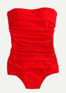 JCREW Ruched bandeau one-piece swimsuit
