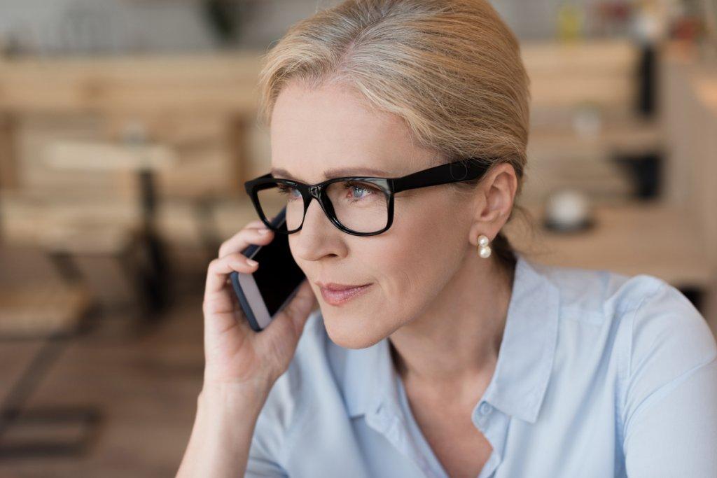 Mature Woman Talking to Friend