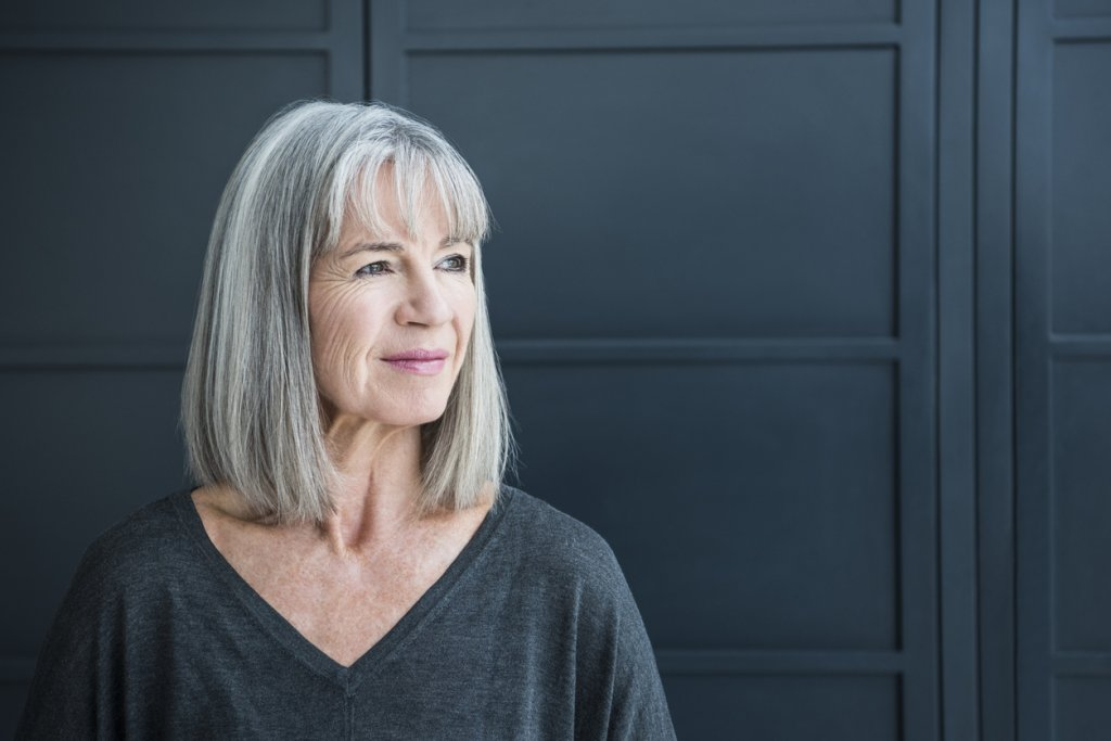 Mature Woman with Gray Hair