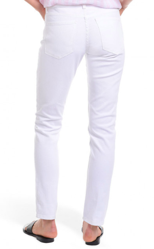 Mot and Bow slim boyfriend white jeans for women