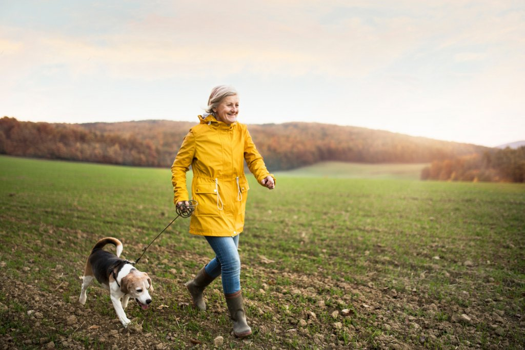 Woman Taking a Nature Walk