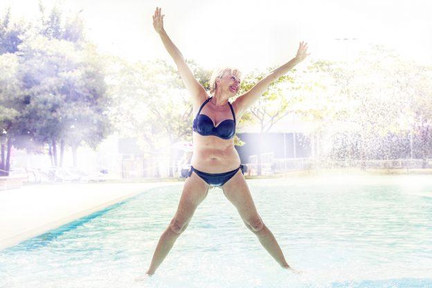 beautiful mature woman in bikini