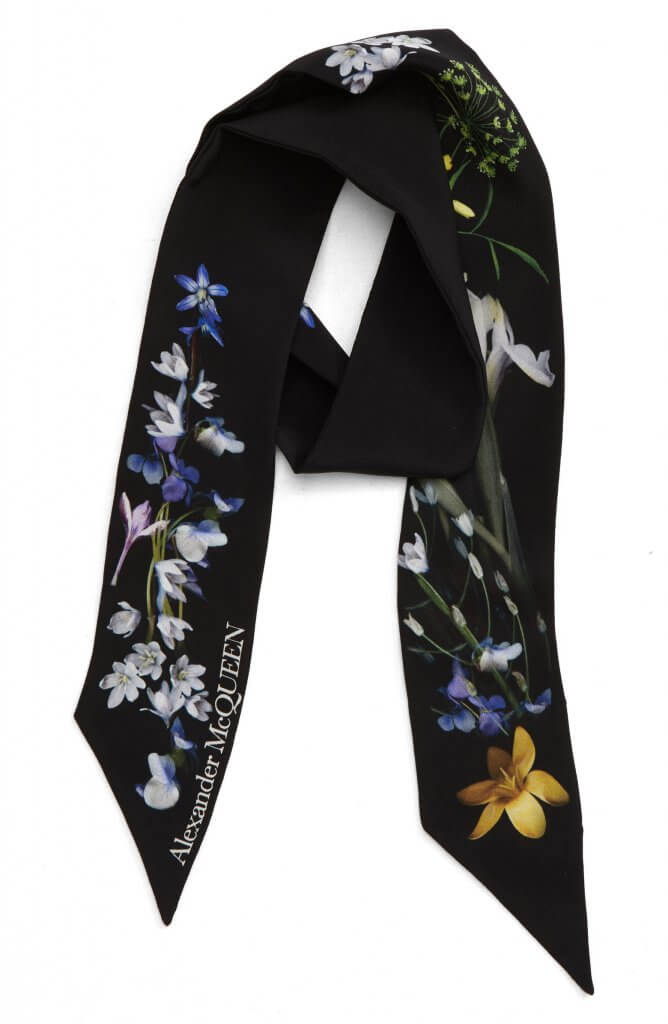 Alexander McQueen Ophelia Skinny Scarf