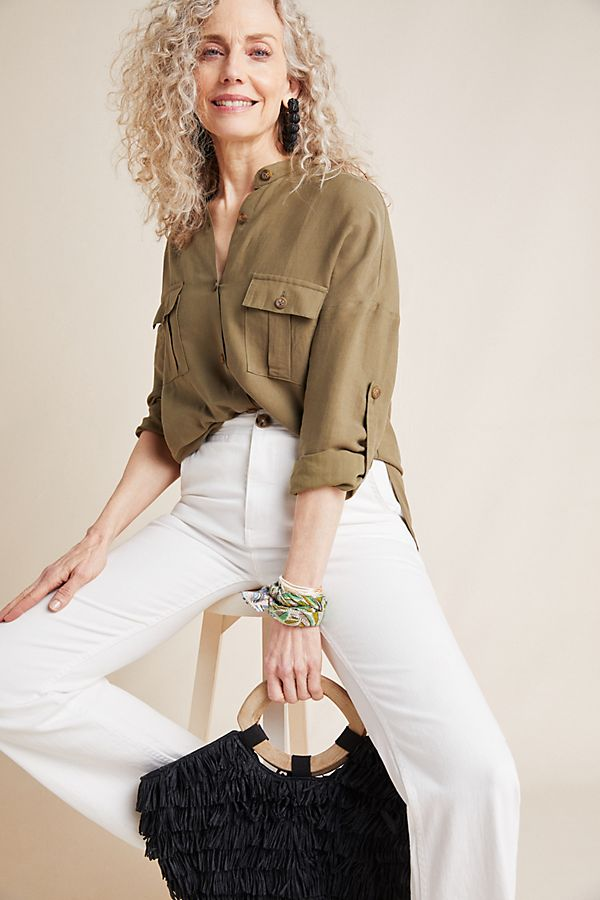 Anthropologie Belted Utility Tunic