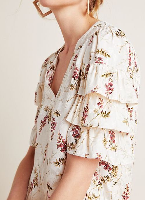 Anthropologie Tabitha Ruffled Blouse