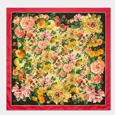 Dolce Gabbana Mix flowers silk scarf