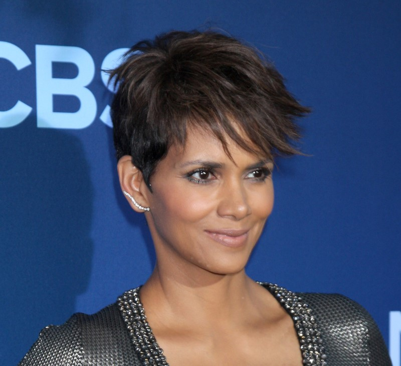 Halle Berry Pixie Haircut cropped
