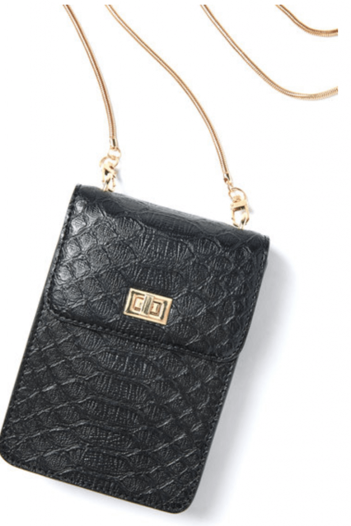 Jules Kae Embossed Cell Phone Crossbody Bag