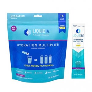 Liquid I.V. Acai Berry Hydration Multiplier- Electrolyte Powder with Easy Open Packets 16ct