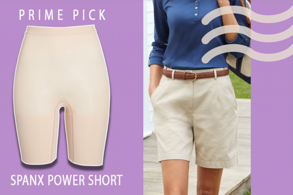 Woman Confident in Shorts with Shapewear Shorts by Spanx