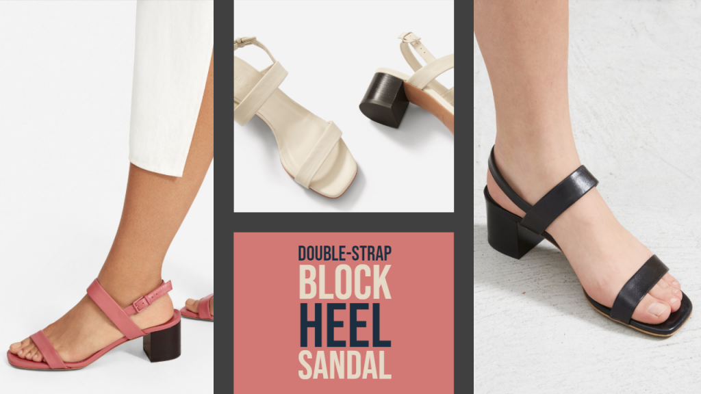 Everlane The Double Block Heel Sandal