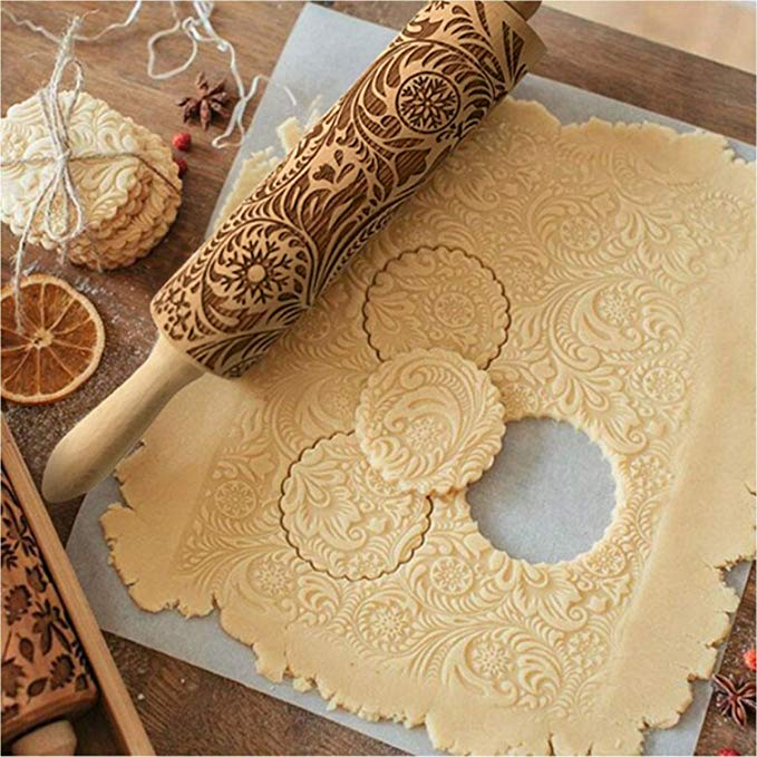 Paisley Embossed Rolling Pin