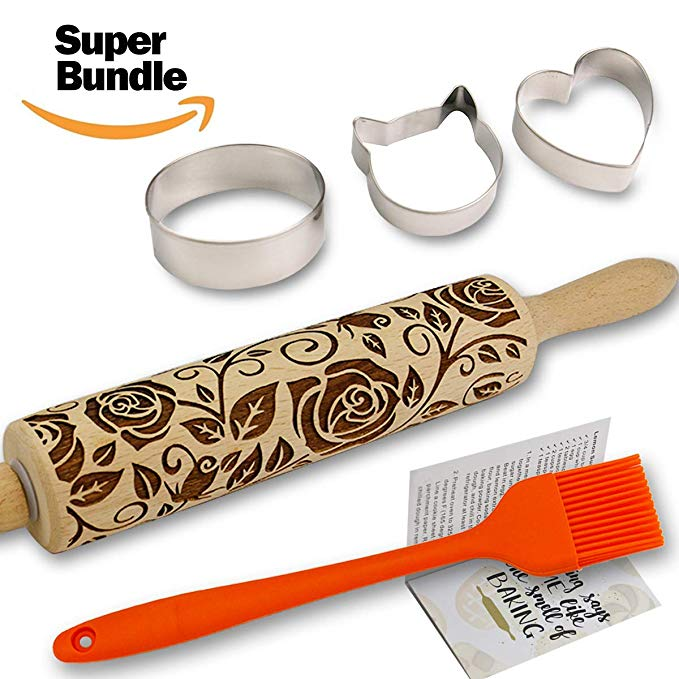 Rose Embossed Rolling Pin