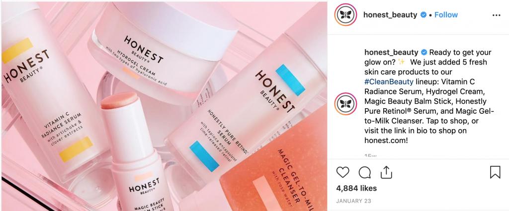 Honest Beauty Instagram