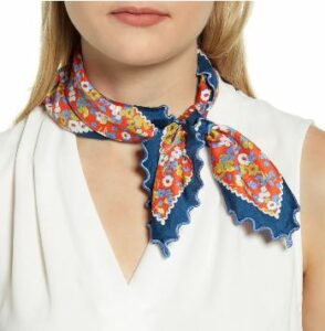 Red Confetti Silk Field Neckerchief,