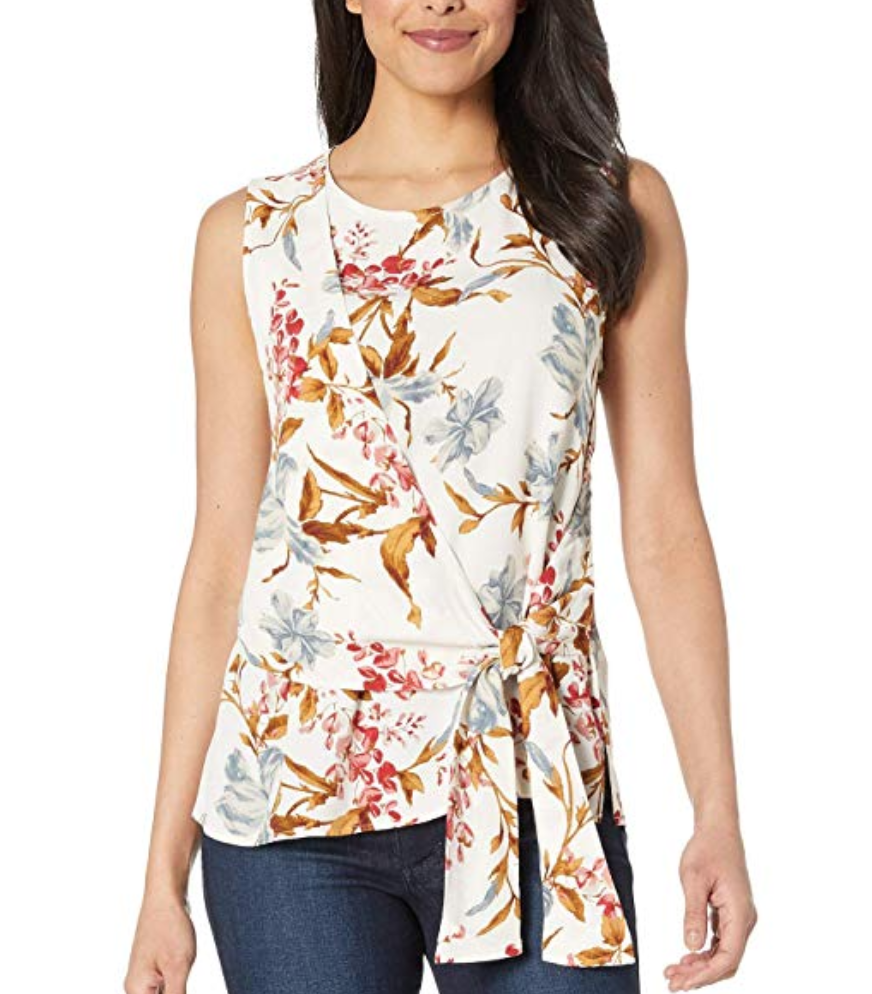 Vince Camuto Sleeveless Tie Blouse