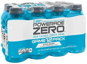 Stay hydrated with Powerade Zero keeps you hydrated without added sugars