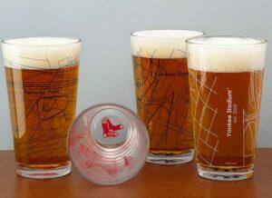 Baseball Park Map Pint Glasses