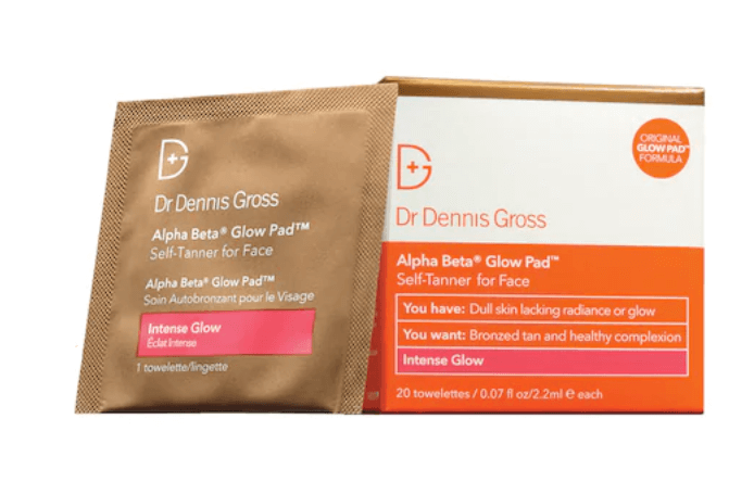 Dr. Dennis Gross Skincare, Alpha Beta Intense Glow Pad Self-Tanner for Face
