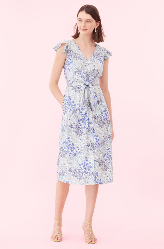 Rebecca Taylor Tie-Waise Dress
