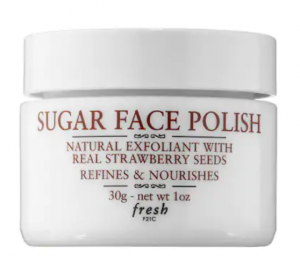 Sugar Face Polish with natural exfoliant for a skincare routine