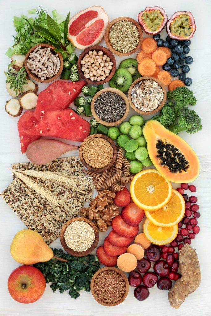 Healthy High Fiber Diet Food