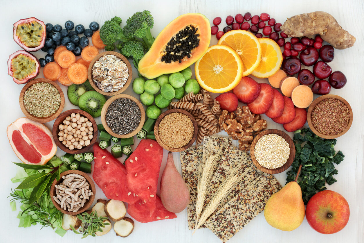 Healthy High Fiber Diet Food and cleansing foods