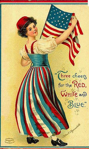 Vintage Postcard The real meaning of 4th of July