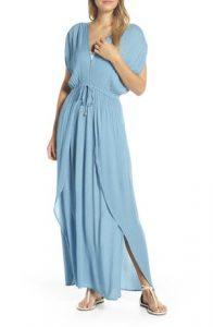 Sky Blue Maxi Beach Cover Up