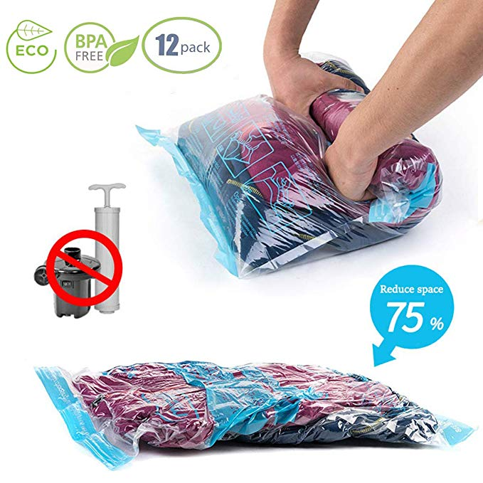 Compression Travel Storage Bags 12 Pack best travel accessories for women
