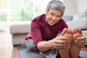 stretching and massage are important for maintaining fascia health as you age.