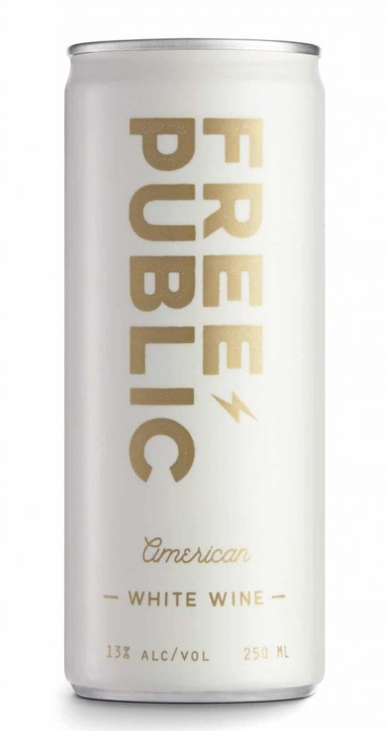 Top pick for pool wine - white wine in a can