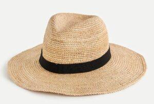JCREW Wide-brim packable straw hat