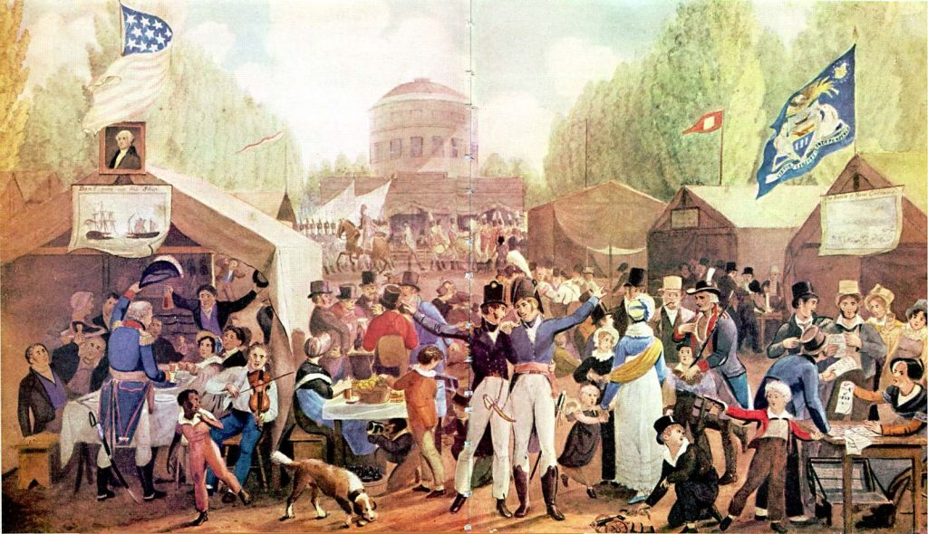 the real meaning of the 4th of july John Lewis Krimmel, 4th of July 1819 in Philadelphia