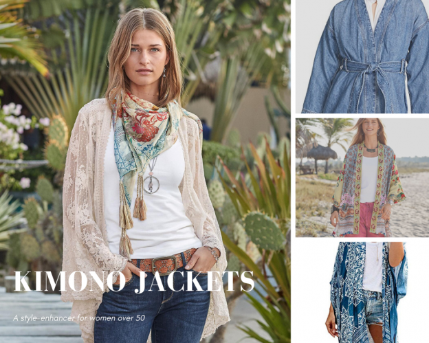 Kimono Jackets are a style-enhancer for women over 50