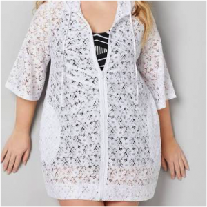 Plus Size Lacy Beach Cover Up