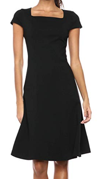 Lark and Ro cap sleeved fit and flare dress