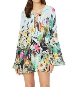Nanette Lepore Tropical Floral Tunic Beach Cover Up
