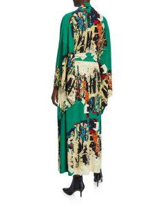 Norma Kamali Printed Long Kimono Robe