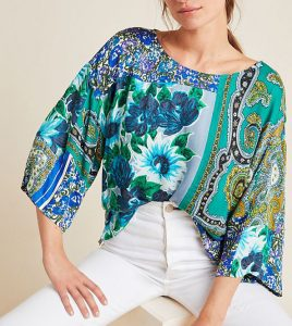 Ellery Mixed Print blouse for Summer Sales
