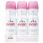 Evian Facial Mist Travel Size refresh after inflight exercises