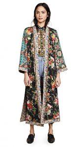 alice + olivia Lynn Long Kimono with Side Slits