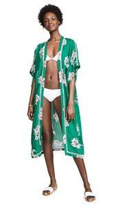 shopbob plush maxi floral kimono jacket
