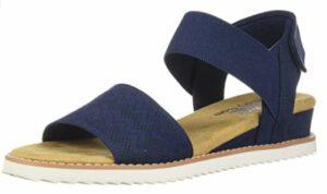 Skechers Women's Desert Kiss-Stretch Quarter Strap Sandal Flat