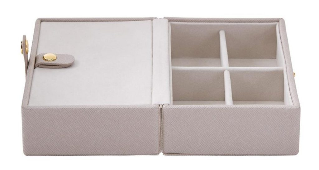 Stackers Taupe Folding Travel Jewelry Storage Tray best travel accessories for women