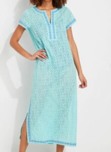 Vineyard Vines Day Lily Burnout Embroidered Cover-Up