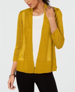 Gold lightweight sweater cardigan to transition into fall