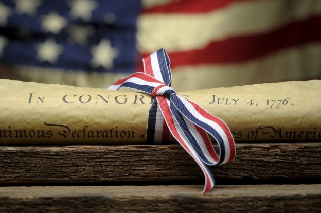 The real meaning of july 4thDeclaration Of Independence and Ribbon
