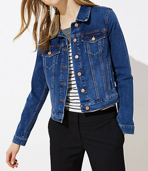 Denim jackets make great transitional pieces